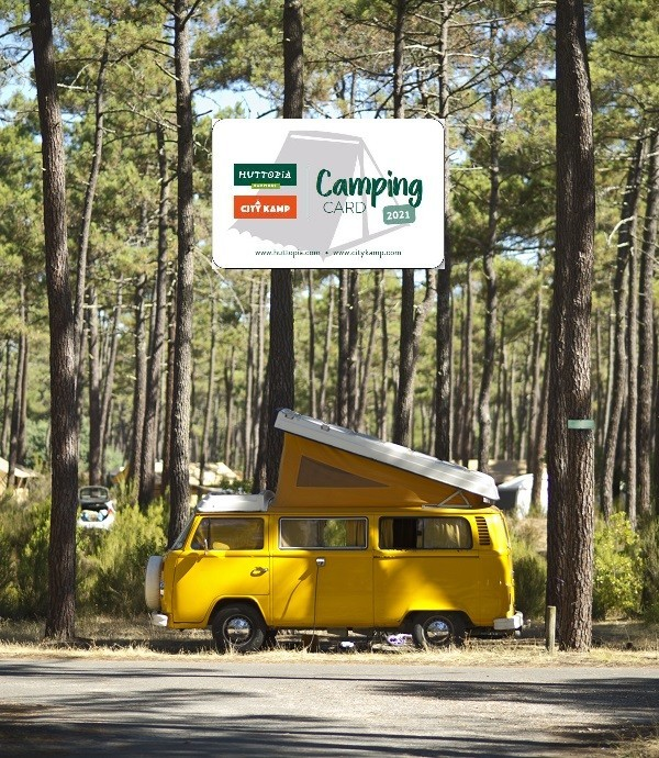 Huttopia gives you a free Camping-Card